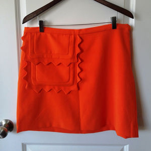 NWOT Twill Skirt With Scallop-Trim Pocket